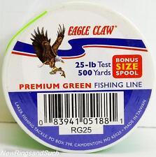 Eagle Claw Premium Green fishing line 25 lb test 500 yards