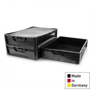 3x Eurobehälter EuroBox 60x40x12 Lagerbox Stapelbox Non Food Artikel 600x400x120