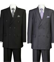 Men/'s Luxurious Denim Look Wool Feel Jacket with Vest Double Vents /& Pants 5287V