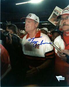 TOM OSBORNE Signed 8X10 PHOTO autograph FANATICS COA nebraska cornhuskers