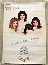 QUEEN - II- 1974 ORIGINAL PROMO POSTER (2 two lp elektra tour vinyl album)