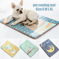 S-XL Dog Cooling Mat Pet Cat Chilly Non-Toxic Summer Cool Bed Pad Cushion Indoor