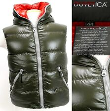 Duvetica Women's $450 Goose Down Winter Hooded Vest Size 44 Medium Olive Green