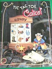 TIC TAC TOE CALICO BY CAROLEE MCMULLIN 1994 ADORABLE WESTERN, ANIMALS PAINT BOOK