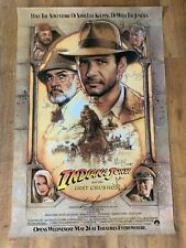 Indiana Jones And The Last Crusade Cast Signed (27x40) Poster - Coa