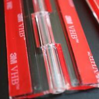 4x Acryl-Scharnier  Kein Klebstoff erforderlich. Transparenter Kunststoff 300mm