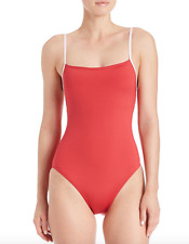 KATE SPADE NEW YORK RED PLAGE ONE PIECE CLASSIC SWIMSUIT WOMENS  SMALL NEW! $90