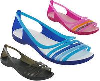 Crocs Isabella Huarache Flat Sandals Beach Summer Holiday Lightweight Womens
