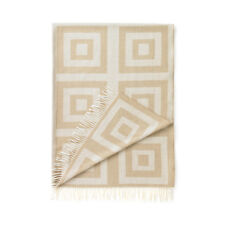 Concentric Squares Wheat Throw