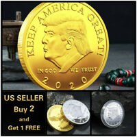 Donald Trump 2020 Keep America Great Commemorative Gold Eagle Coin Style A -Gold