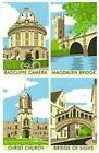 Oxford Tea Towel Collage Souvenir Gift Magdalen Bridge Sighs University College