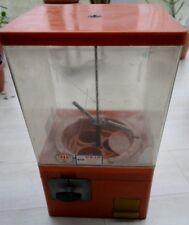 60er Jahre Goliath Kaugummi/warenautomat, 2 X 5 cent Einwurf Oranger 70er Kult!!