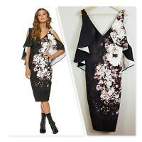 [ PASDUCHAS ] Womens Constance Drape Midi Dress RRP$349 | Size AU 10 or US 6