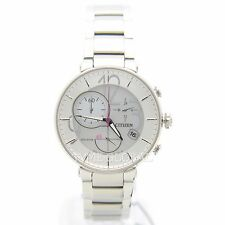 Citizen FB1200-51A Eco-Drive Analog Chronograph Stainless Steel Ladies Watch