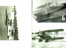 SET OF 3 - LOT #35  B&W 4X6 PHOTOGRAPHS - RACING AIRPLANES & AVIATION