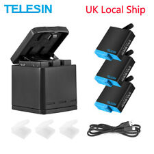 TELESIN 3Way LED Battery Charging Box 3 Battery Pack for GoPro Hero 8 7 6 5