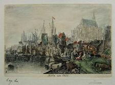 Köln um 1825, Radierung nach altem Vorbild