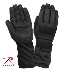 Rothco 4421 Fire Resistant Griplast Military Gloves - Black
