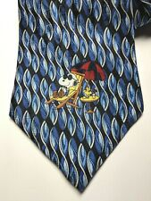 Peanuts Snoopy Neck Tie Blue 100% Silk Snoopy Root Beer Cool Sunglasses USA Mens