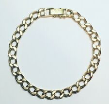 9ct Gold Curb Link Bracelet - 9 Inches