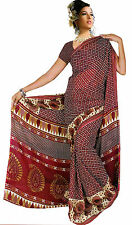 mousseline Bollywood Carnaval SARI ORIENT INDE fo323