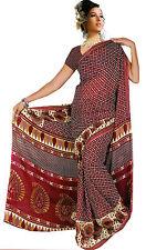 Chiffon Bollywood Karneval Sari Orient Indien Fo323
