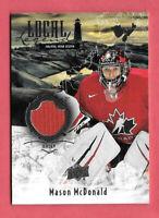 2016-17 Mason McDonald Upper Deck Team Canada Juniors Local Legends Jersey