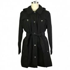 London Fog Hooded Belted Trench Rain Coat