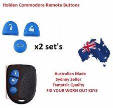 BLUE 2X Sets Key Remote Buttons Holden Commodore Key VS VT VX VY VZ WH WK WL