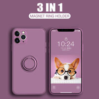 Case For iPhone 11 Pro Max SE 2 XS XR 8 7 Plus Square Liquid Silicone Ring Cover