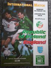 More details for republic of ireland v england 1995 international ( abandoned due to riot)