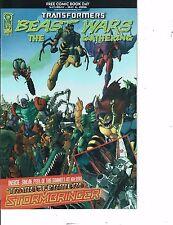 Lot Of 3 Comic Book Comic Day Beast Wars, Gyro Gearloose, Bongo 2007 BH50