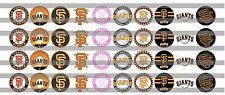 (60) San Francisco Giants Bottle Cap Image Pre-Cut 12mm