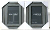 2 Count Foreside 4 Inch X 6 Inch Gray Wooden Heartland Photo Frame