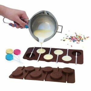 Doughnut Lollipop Mold DIY Bakeware Silicone 3D Handmade Pop Sucker Sticks Candy