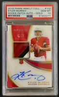 2019 Immaculate Kyler Murray True RC Patch RPA Auto Gold #ed /25 PSA 10 POP 1