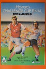 Littlewoods Challenge Cup Final - Arsenal v Liverpool - 5th April 1987