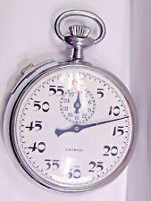 Vintage Aristo Stopwatch Swiss Side Bar Stem Set Base Metal Case 47 mm. 7 Jewels