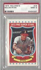 1973 Kellogg's baseball Card #16 Nolan Ryan, California Angels graded PSA 9 MINT