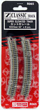 Rokuhan R065 R220mm 30º Curved Super Elevated Track 6 pcs. (1/220 Z Scale)