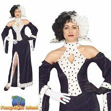 HORROR 101 DALMATIONS CRUELLA DEVIL - UK 10-14 ladies womens fancy dress costume