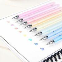 8Pcs 0.5mm Magical Gel Pen Erasable Pens School Office Student Writing Supplies
