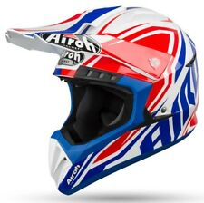 Airoh Casco Moto Off Road Switch Impact Blu Gloss L