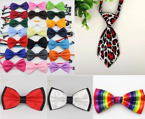 Dog Cat Accessories Bow Tie Adjustable Necktie Collar UK Bowtie Pet Bandana