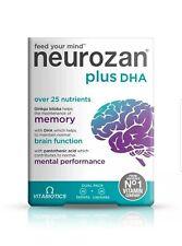 Vitabiotics Neurozan Plus DHA 56 Tablets/Capsules  Long EXPIRY
