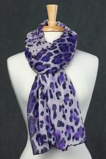 100% Silk - Women's Animal/Leopard/Cheetah/Zebra Print Scarf /Shawl/Wrap