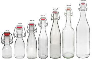 Bügelflaschen Glasflaschen mit Bügel Bügelverschluss Flasche Drahtbügelflasche