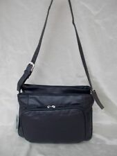 New Women's Ohh Ashley Lambskin Leather Shoulder Large Handbag Organizer Navy