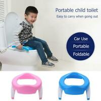 Folding Portable Baby Handle Toilet Seat Pot Pad Cushion Trainer Potty Training
