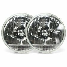 "Snake-Eye 7"" Inch Lens Assembly with Clear Turn Signal  Pair hot rod v8 Pickup"